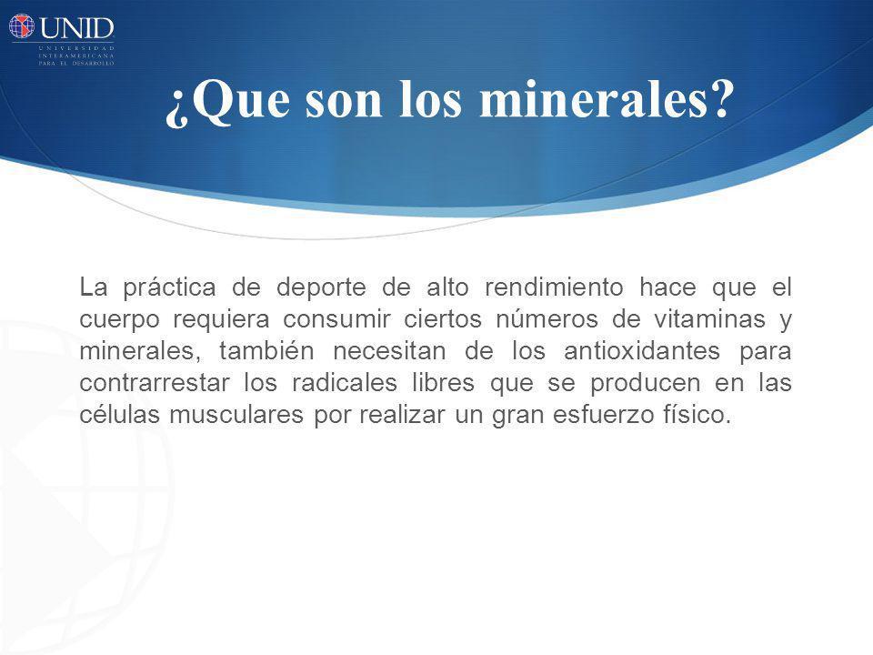 ¿Que son los minerales