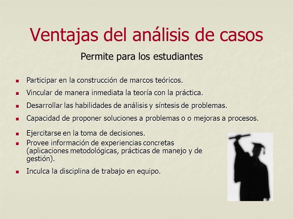 Ventajas del análisis de casos