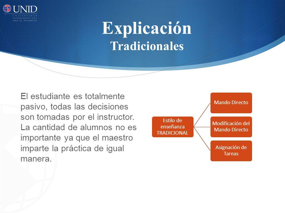 Explicación Tradicionales