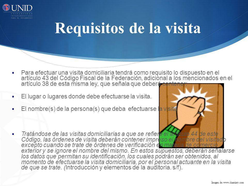 Requisitos de la visita