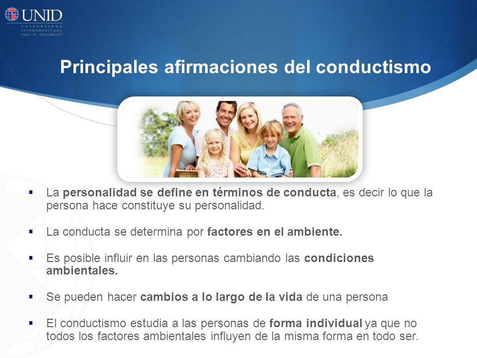 Principales afirmaciones del conductismo