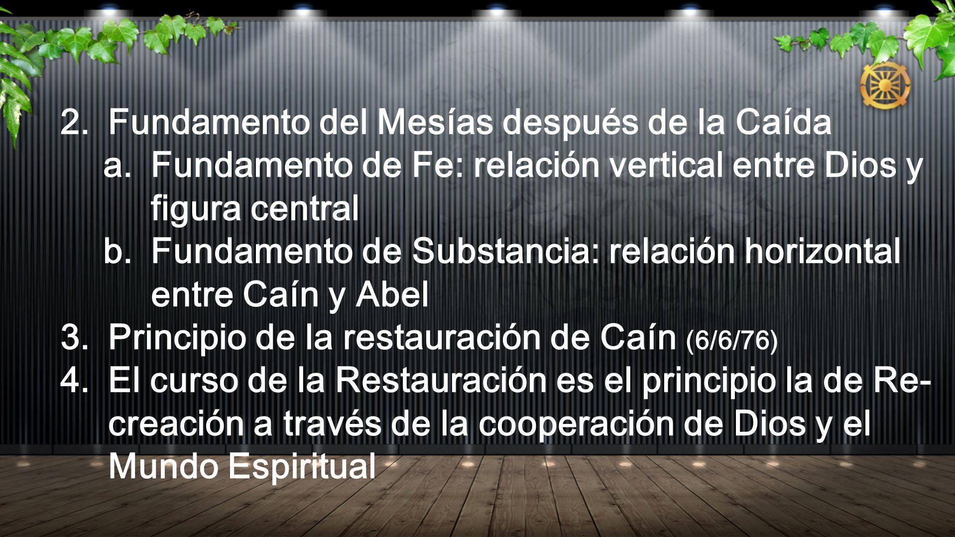 Fundamento del Mesías después de la Caída