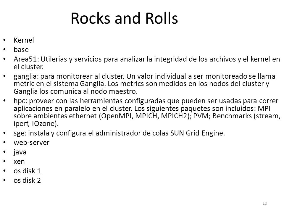 Rocks and Rolls Kernel base