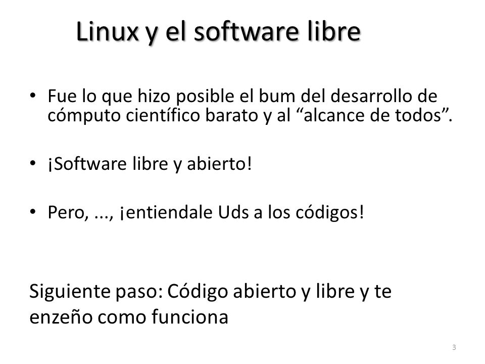 Linux y el software libre
