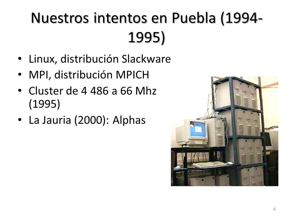 Nuestros intentos en Puebla (1994-1995)