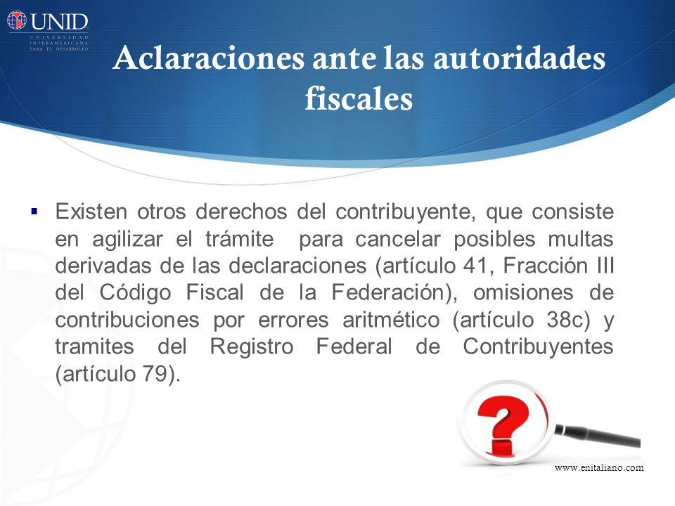 Aclaraciones ante las autoridades fiscales
