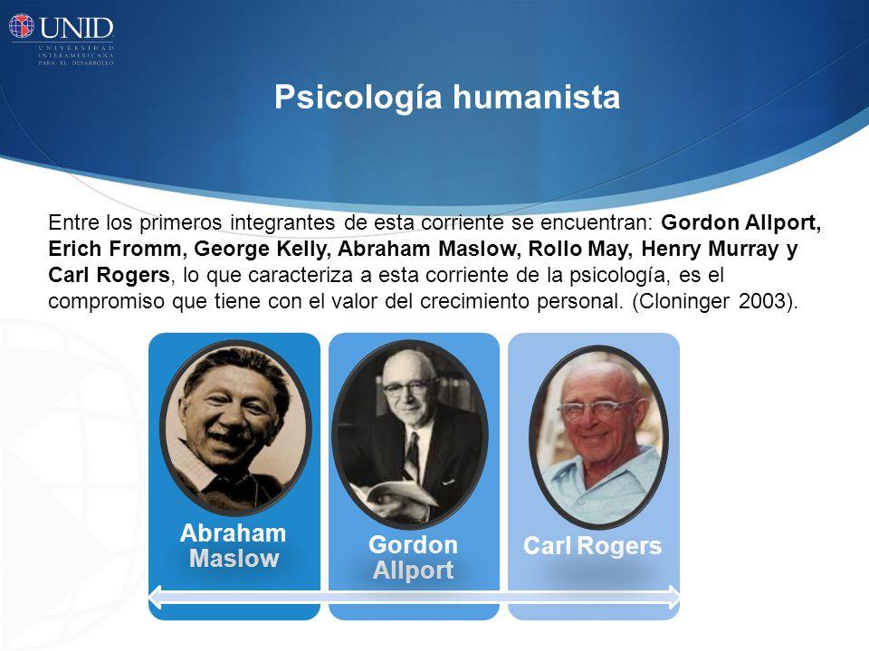 Psicología humanista Abraham Maslow Gordon Allport Carl Rogers