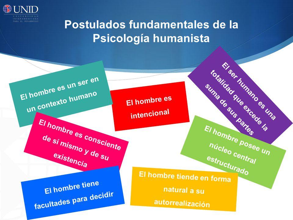 Postulados fundamentales de la Psicología humanista