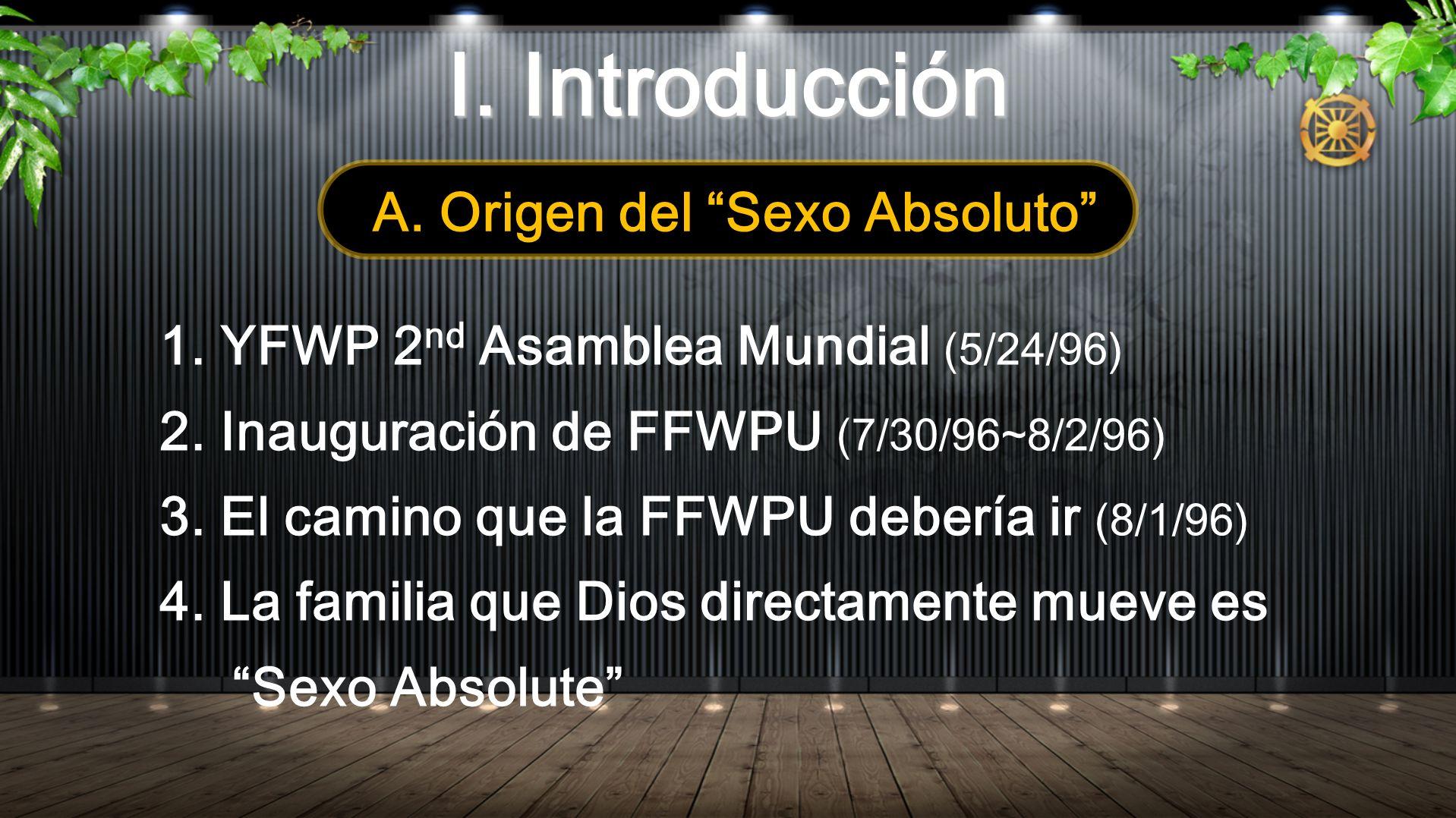 A. Origen del Sexo Absoluto