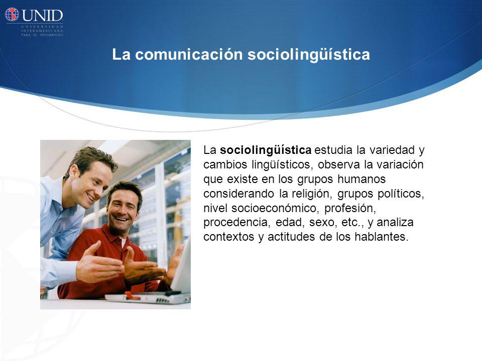 La comunicación sociolingüística