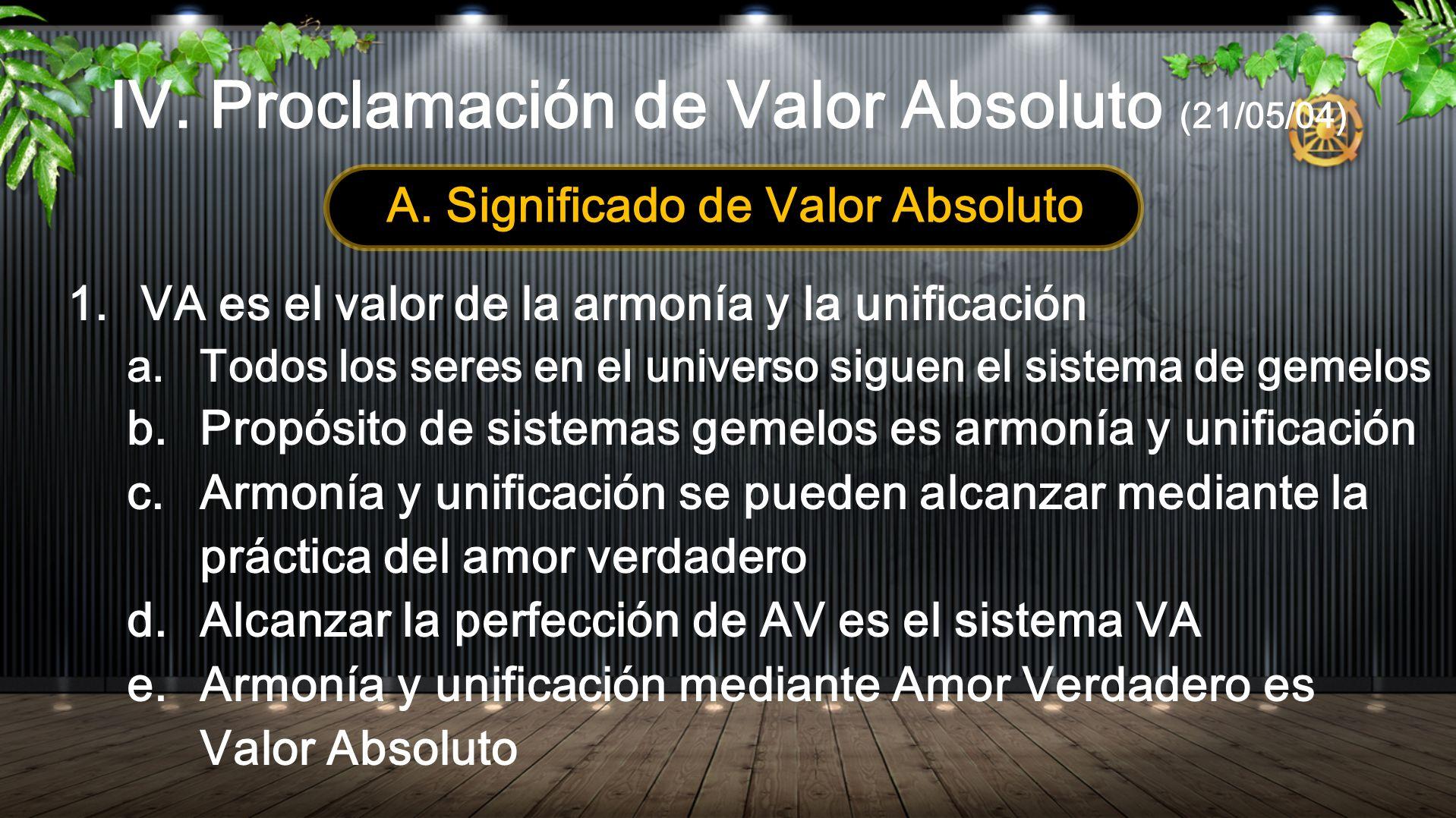 IV. Proclamación de Valor Absoluto (21/05/04)