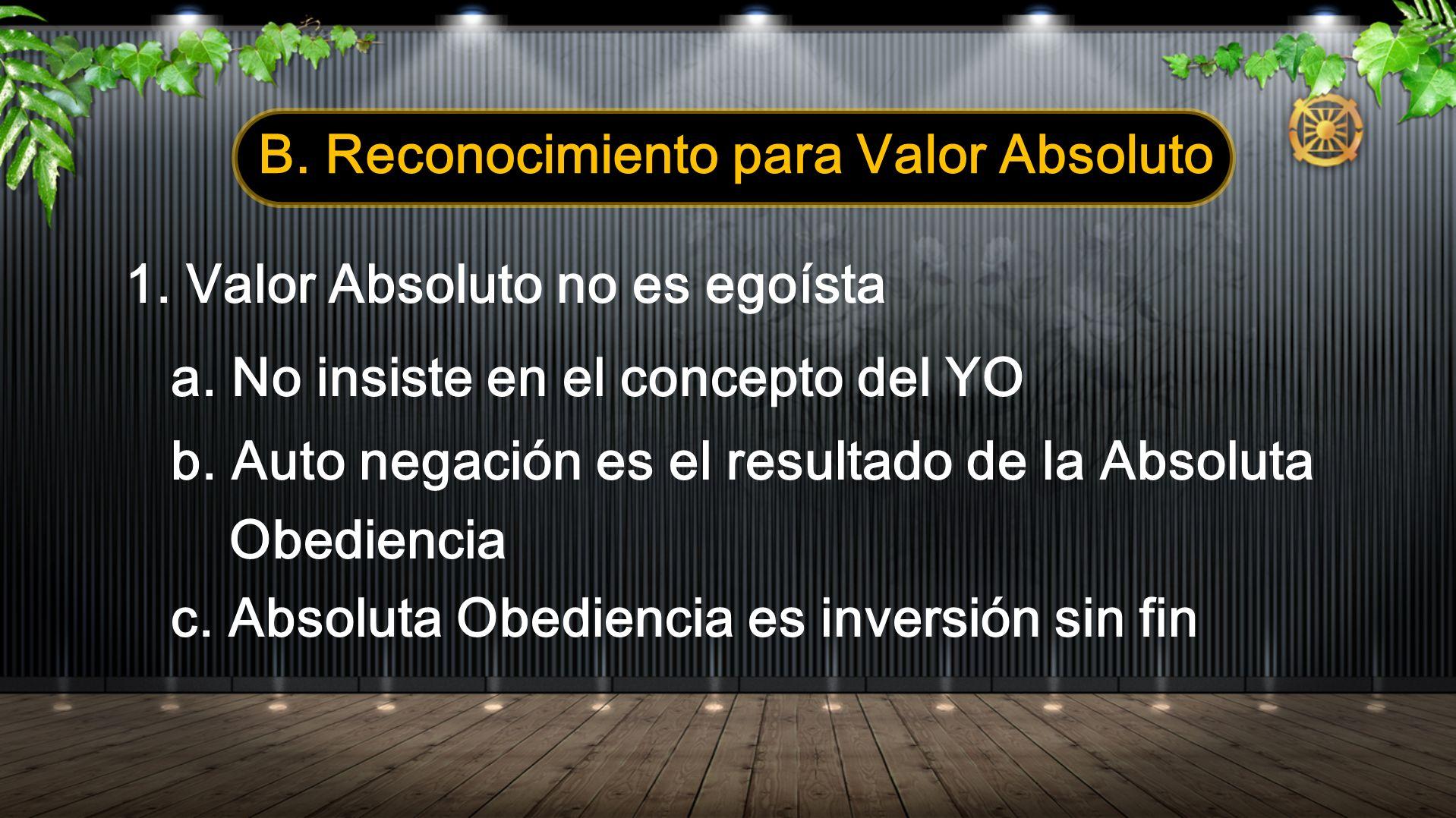 B. Reconocimiento para Valor Absoluto