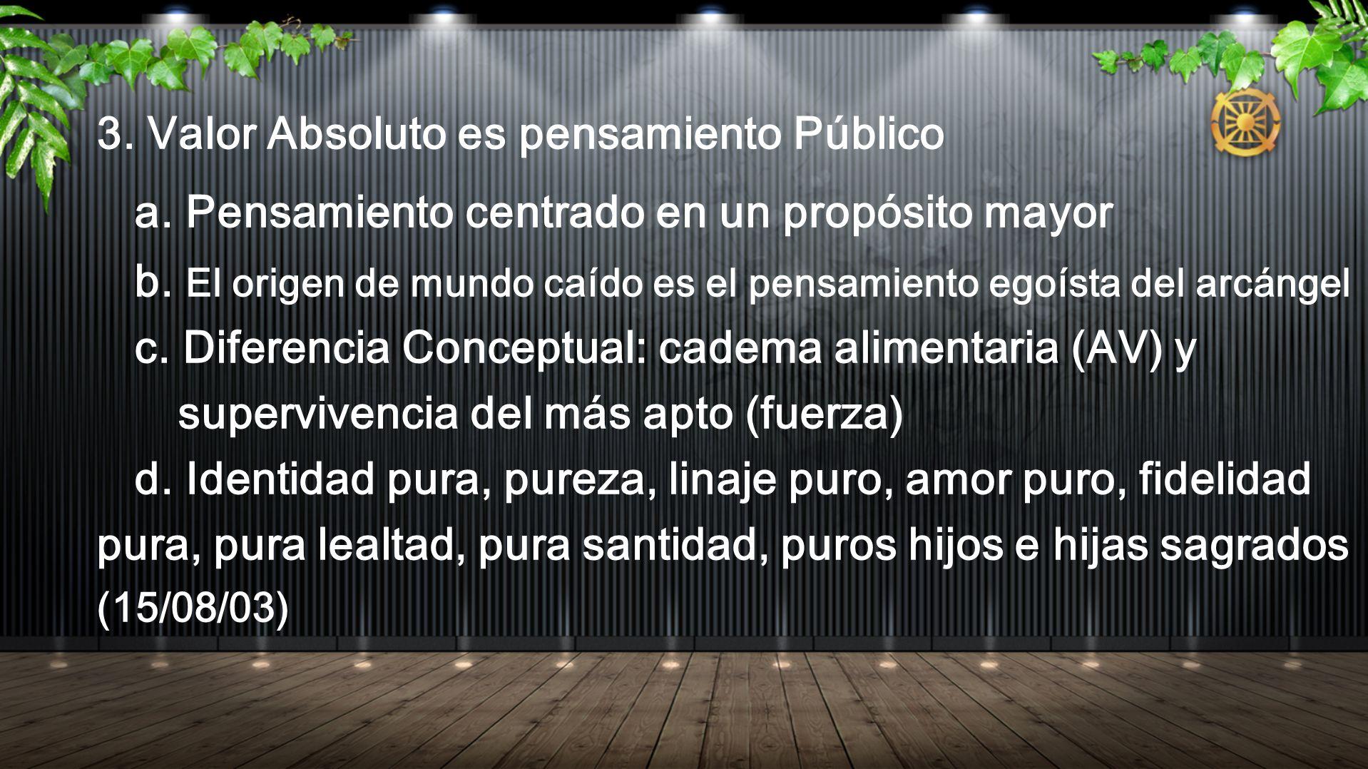 3. Valor Absoluto es pensamiento Público