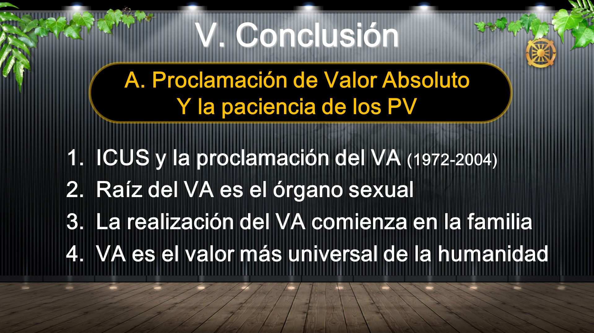A. Proclamación de Valor Absoluto