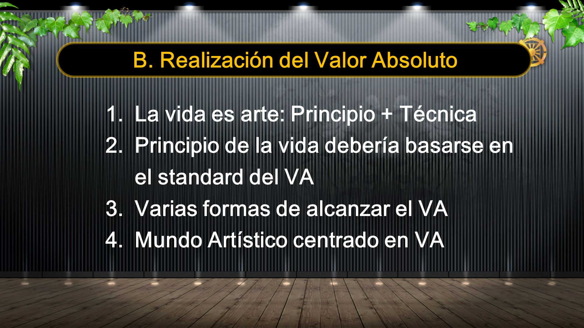 B. Realización del Valor Absoluto