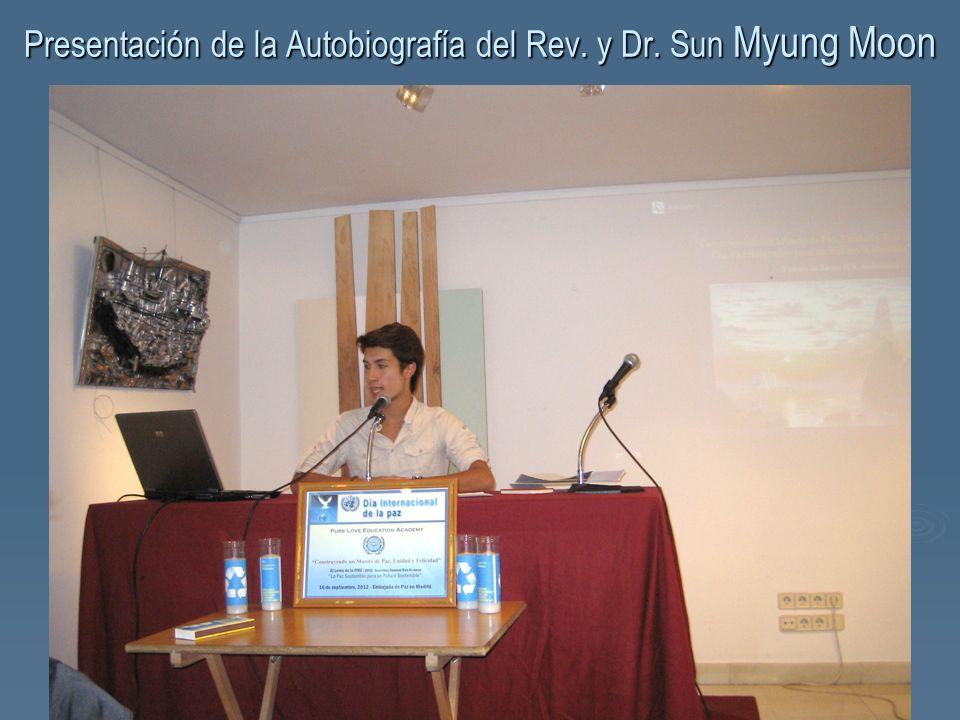 Presentación de la Autobiografía del Rev. y Dr. Sun Myung Moon