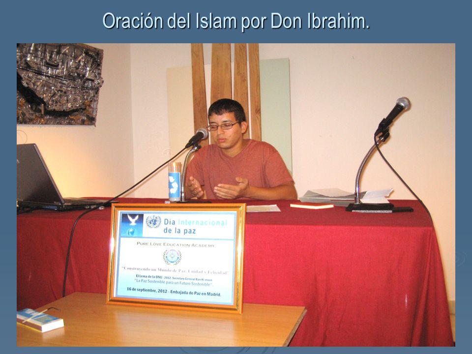 Oración del Islam por Don Ibrahim.