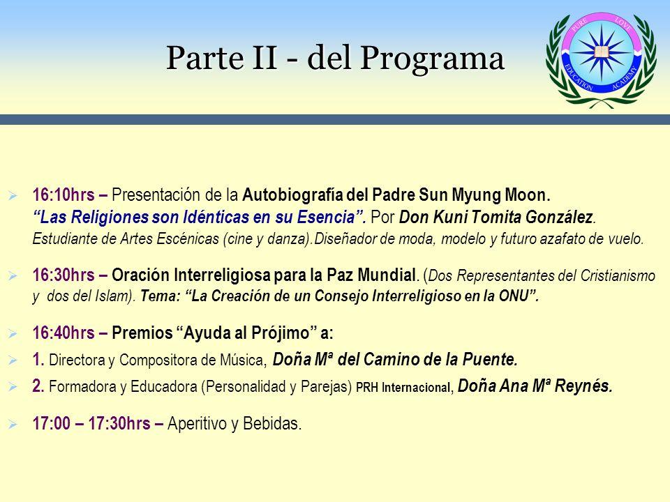 Parte II - del Programa Parte II - del Programa
