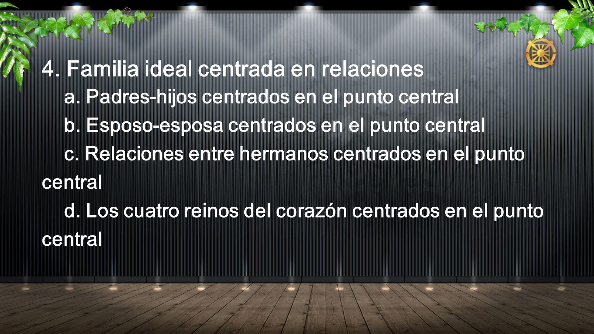 4. Familia ideal centrada en relaciones