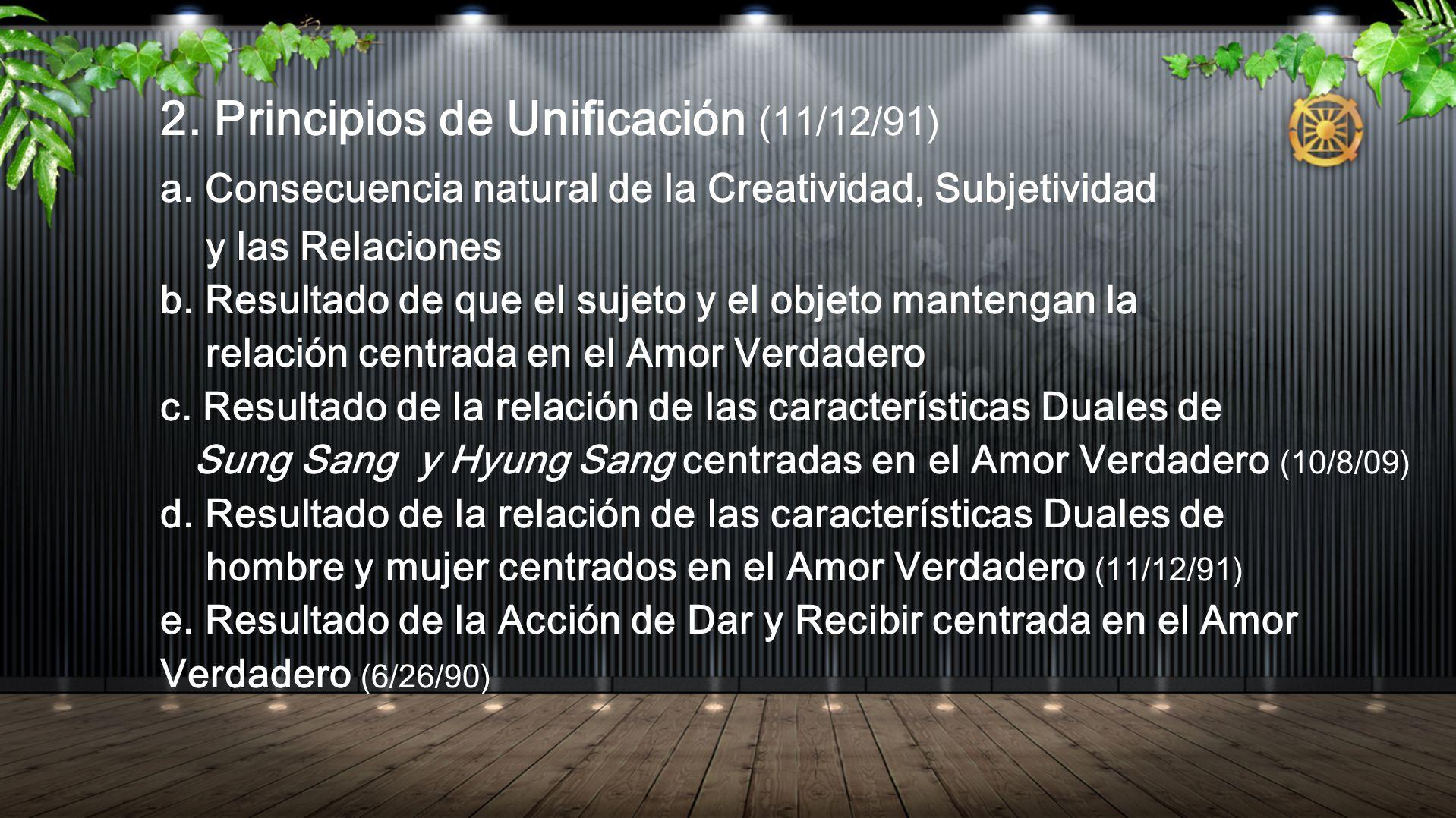 2. Principios de Unificación (11/12/91)