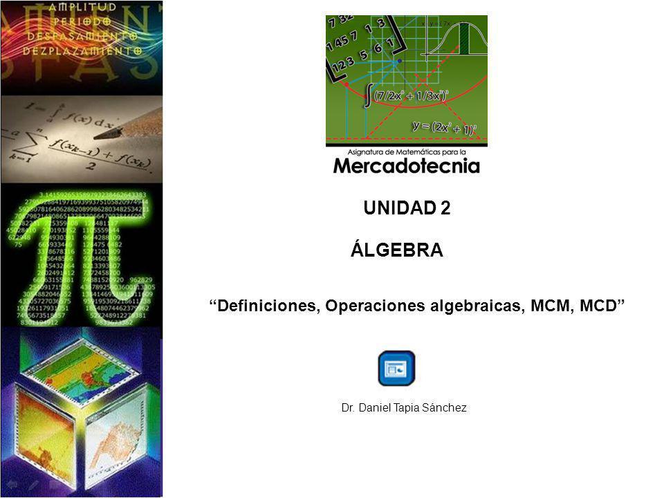 Definiciones, Operaciones algebraicas, MCM, MCD
