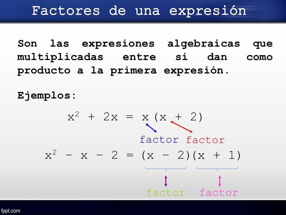 Factores de una expresión