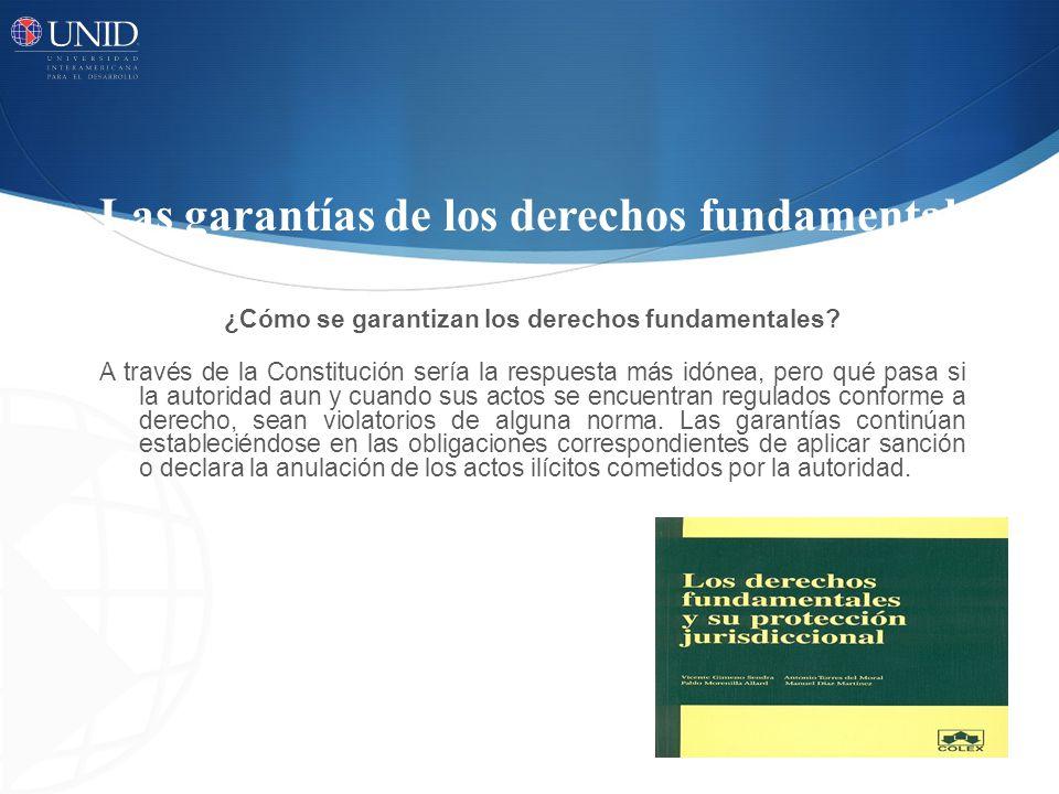 Las garantías de los derechos fundamentales