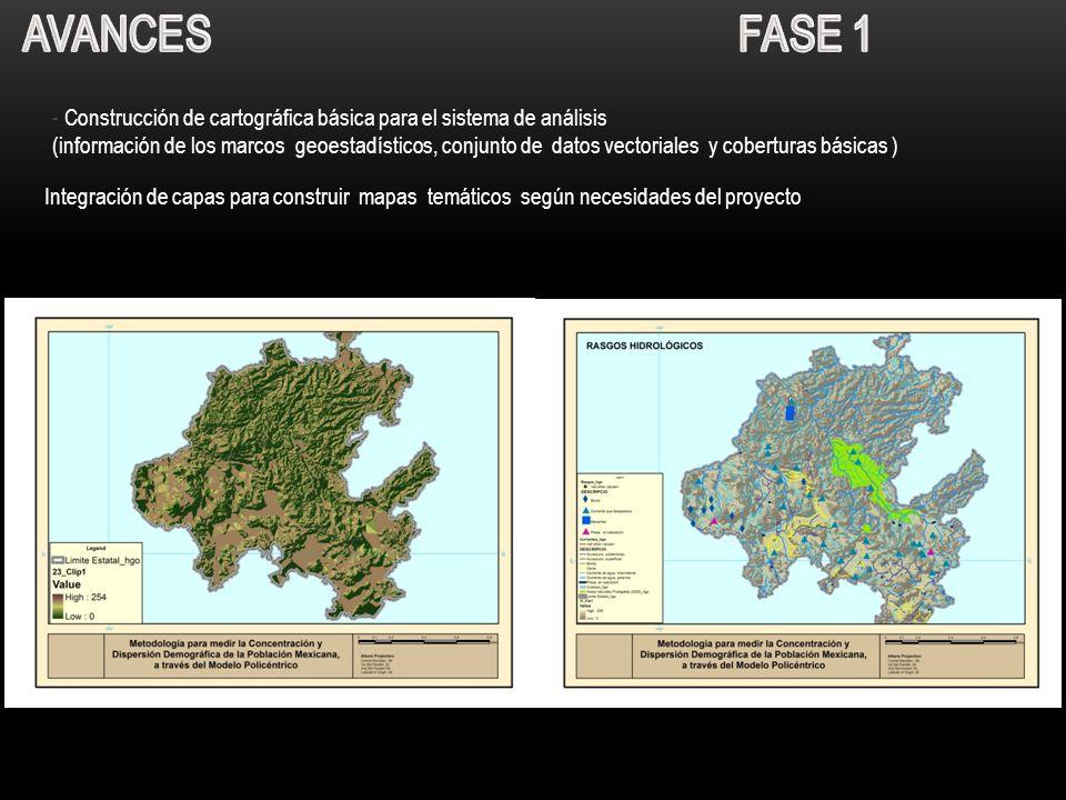Avances Fase 1 - Construcción de cartográfica básica para el sistema de análisis.