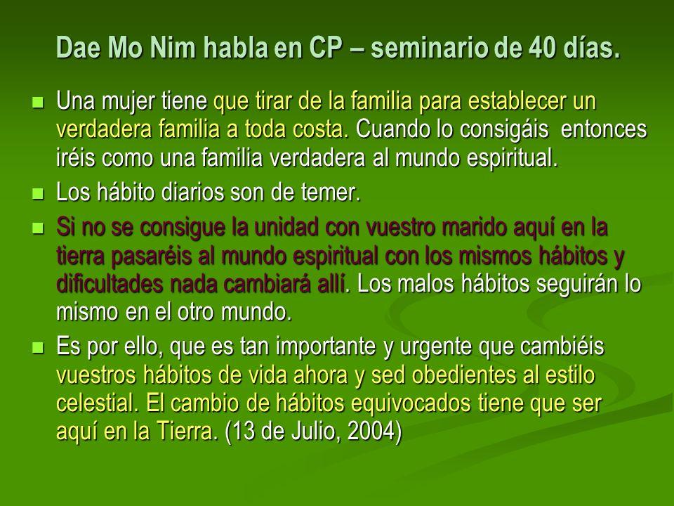 Dae Mo Nim habla en CP – seminario de 40 días.