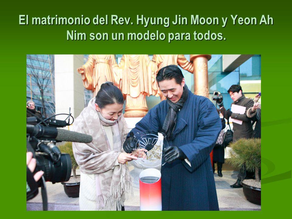 El matrimonio del Rev. Hyung Jin Moon y Yeon Ah Nim son un modelo para todos.