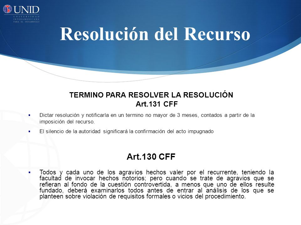 Resolución del Recurso