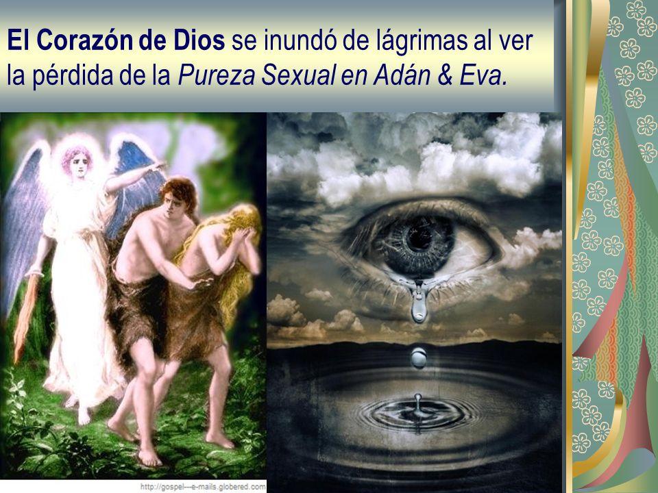 El Corazón de Dios se inundó de lágrimas al ver la pérdida de la Pureza Sexual en Adán & Eva.