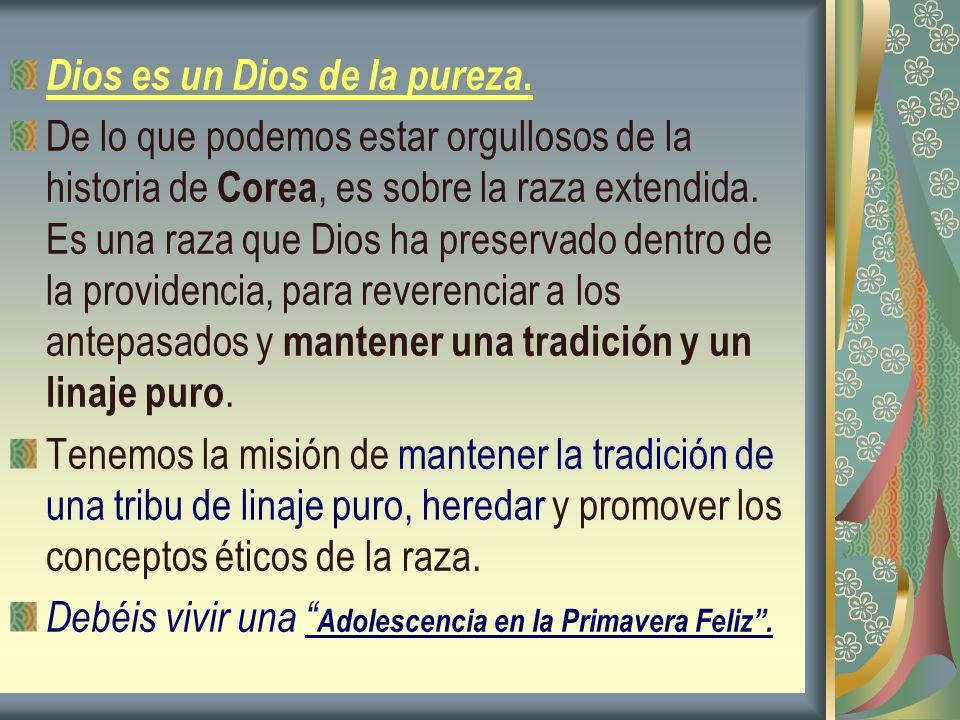 Dios es un Dios de la pureza.