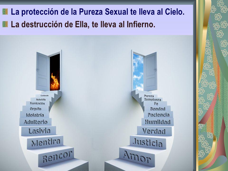 La protección de la Pureza Sexual te lleva al Cielo.