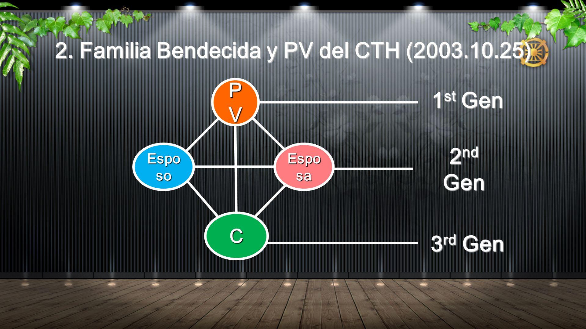 2. Familia Bendecida y PV del CTH (2003.10.25)