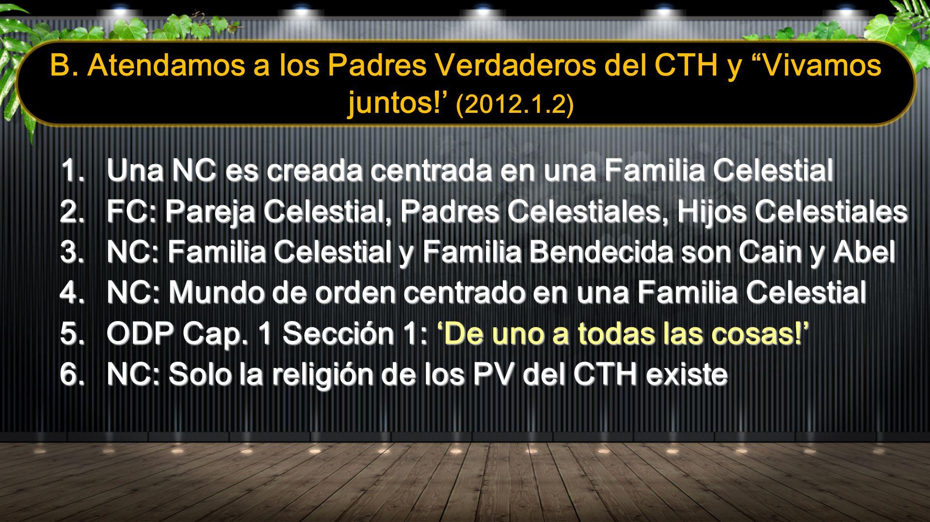 Una NC es creada centrada en una Familia Celestial