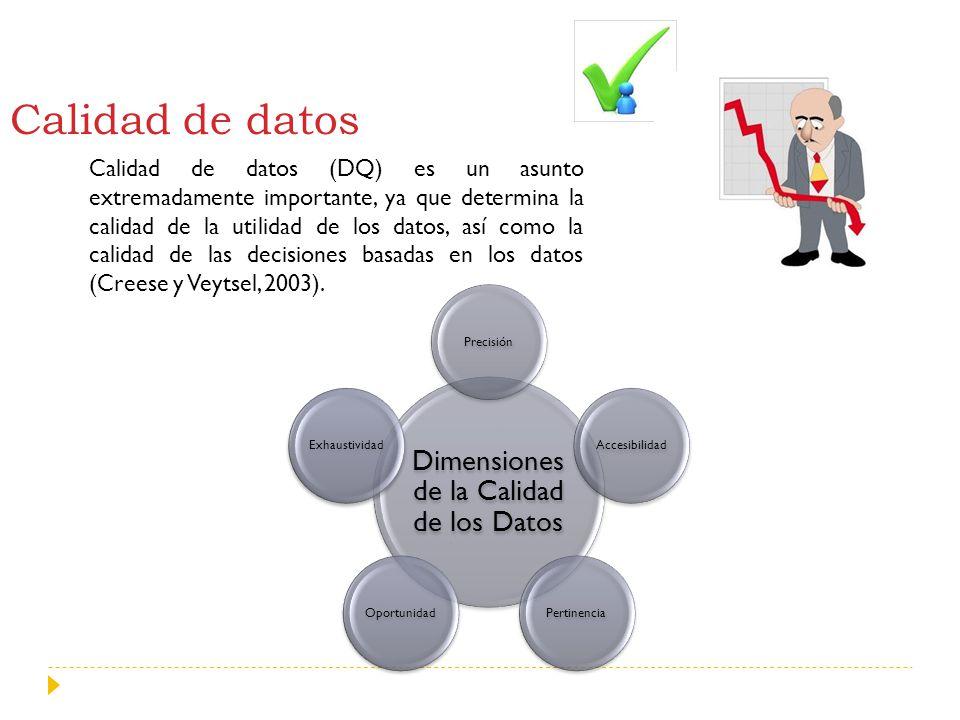 Dimensiones de la Calidad de los Datos