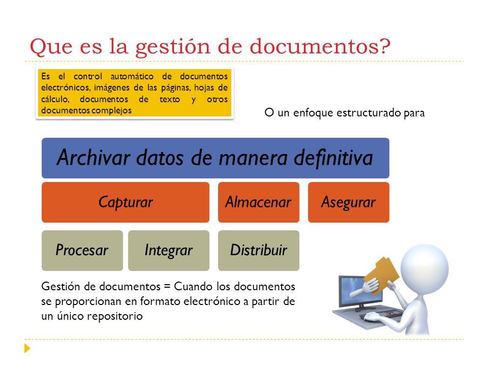 Que es la gestión de documentos