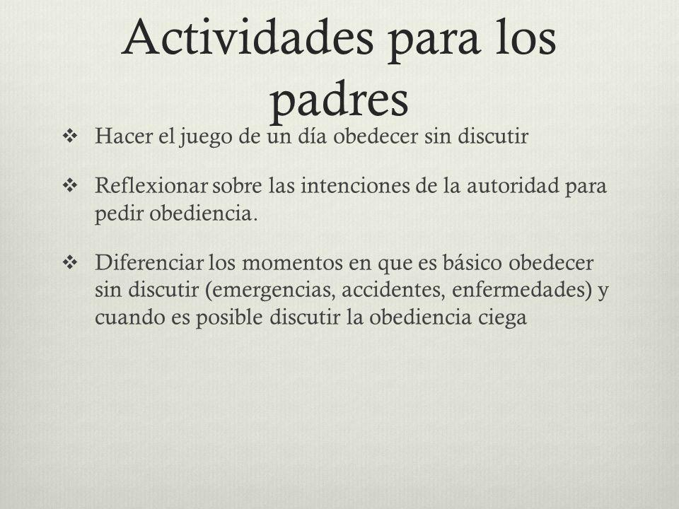 Actividades para los padres