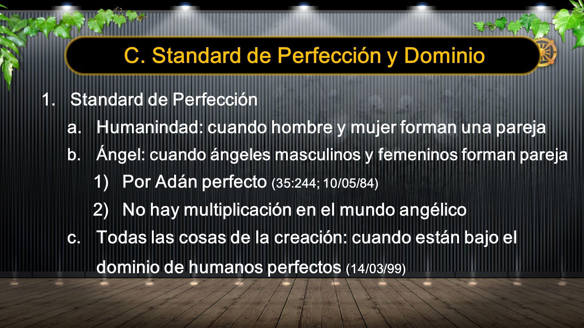 C. Standard de Perfección y Dominio