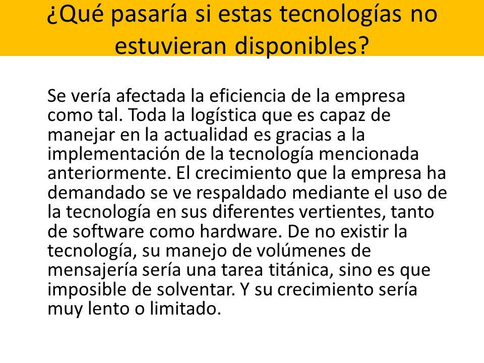 ¿Qué pasaría si estas tecnologías no estuvieran disponibles