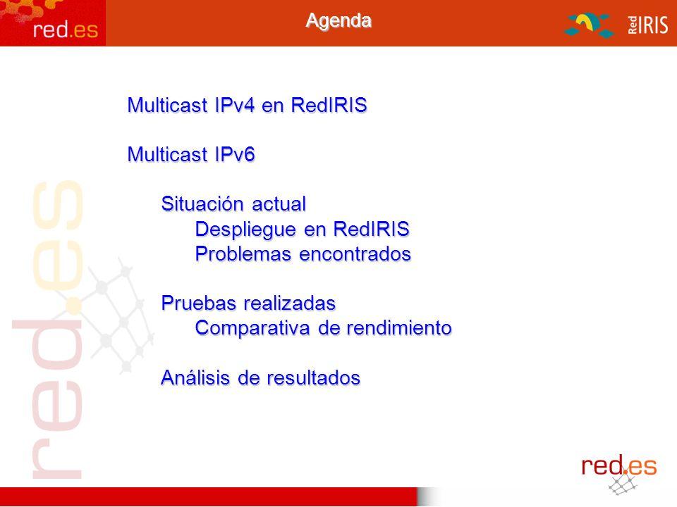 Multicast IPv4 en RedIRIS Multicast IPv6 Situación actual