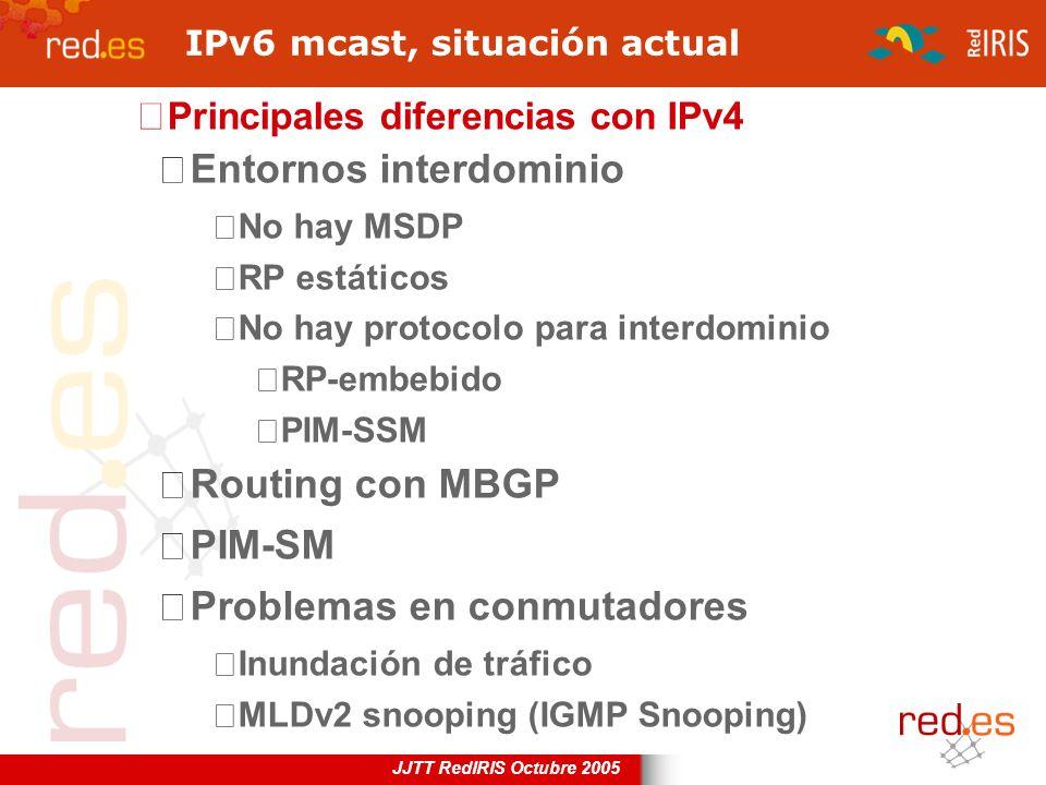 IPv6 mcast, situación actual