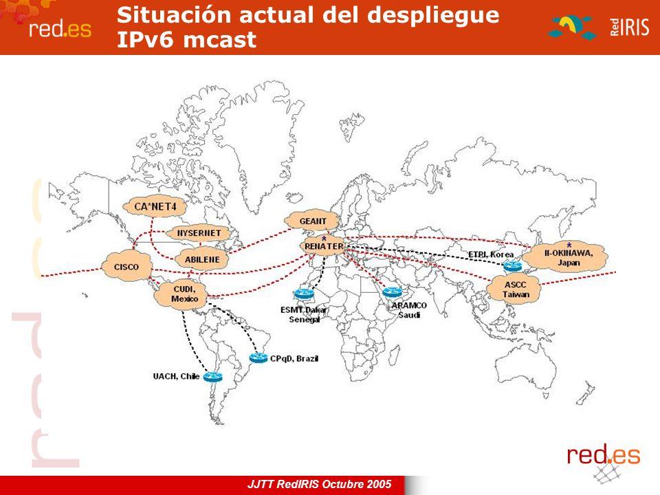 Situación actual del despliegue IPv6 mcast