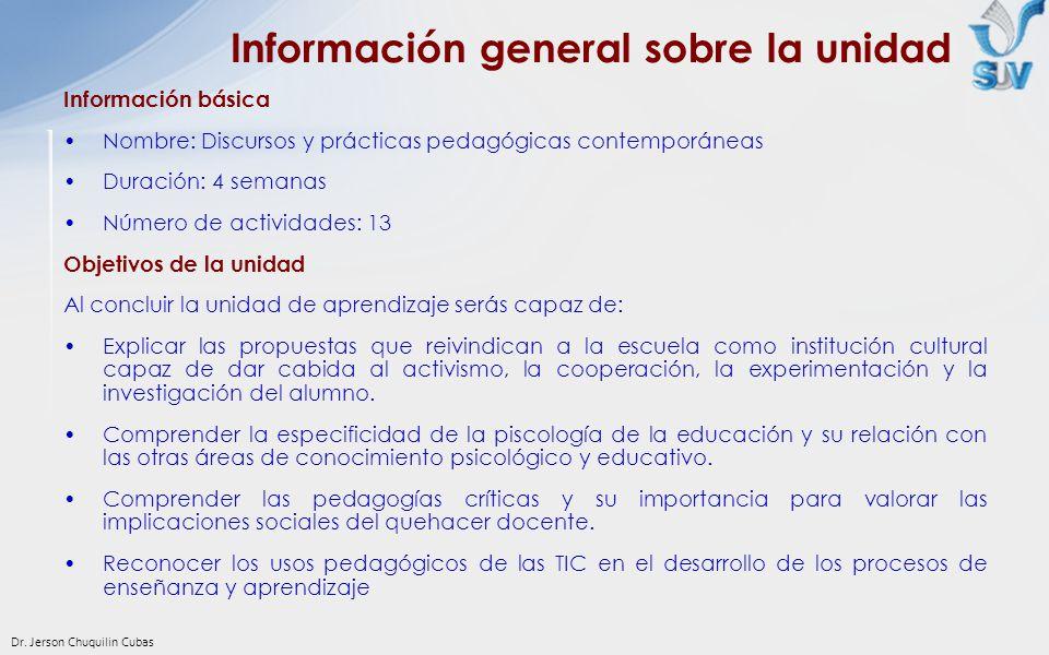 Información general sobre la unidad