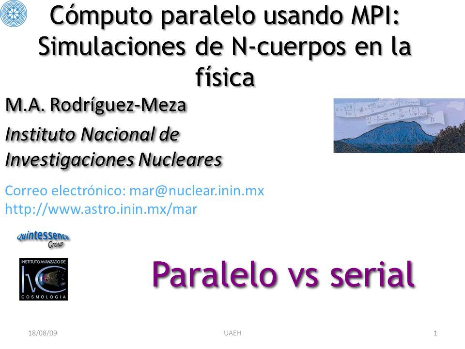 Cómputo paralelo usando MPI: Simulaciones de N-cuerpos en la física