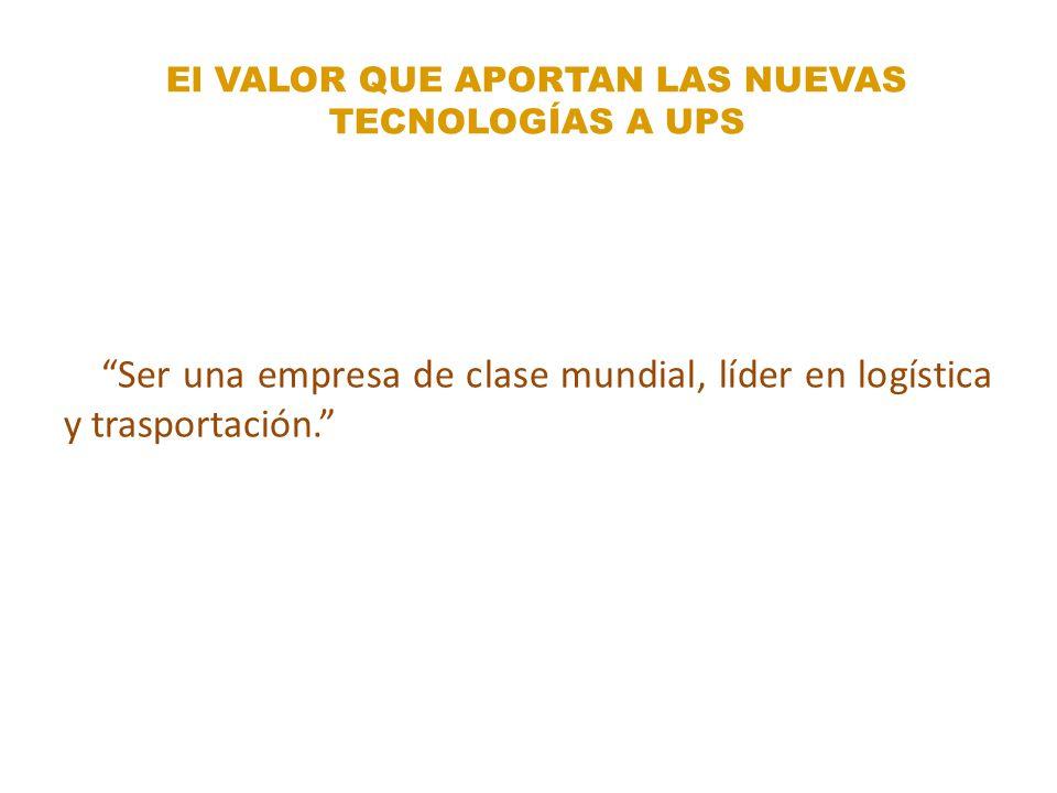 El VALOR QUE APORTAN LAS NUEVAS TECNOLOGÍAS A UPS