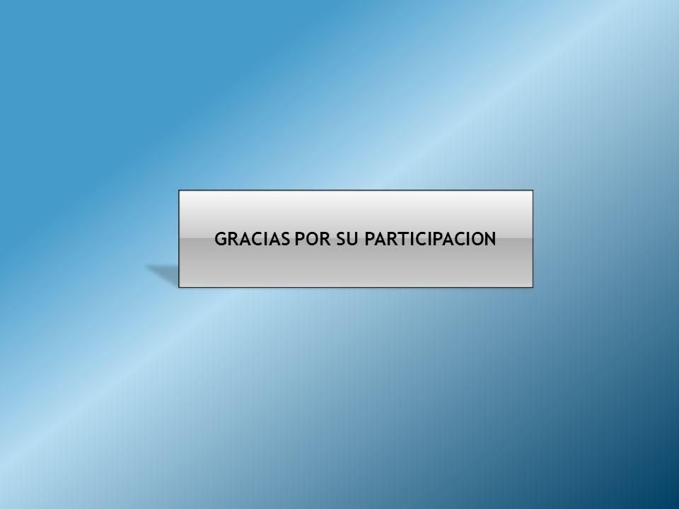 GRACIAS POR SU PARTICIPACION
