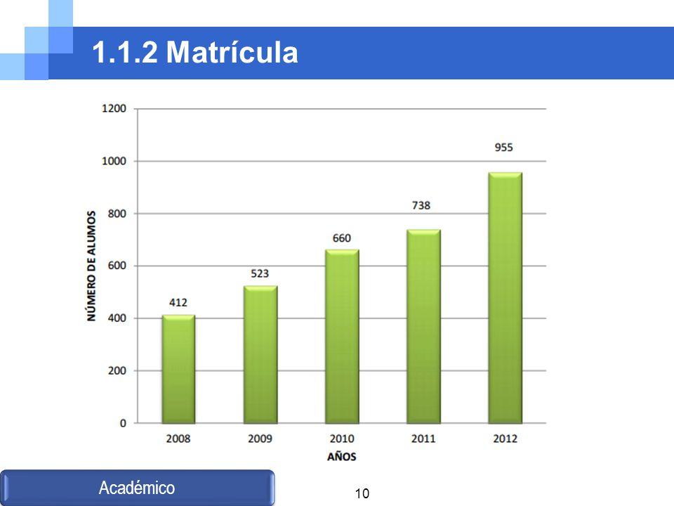 1.1.2 Matrícula Académico