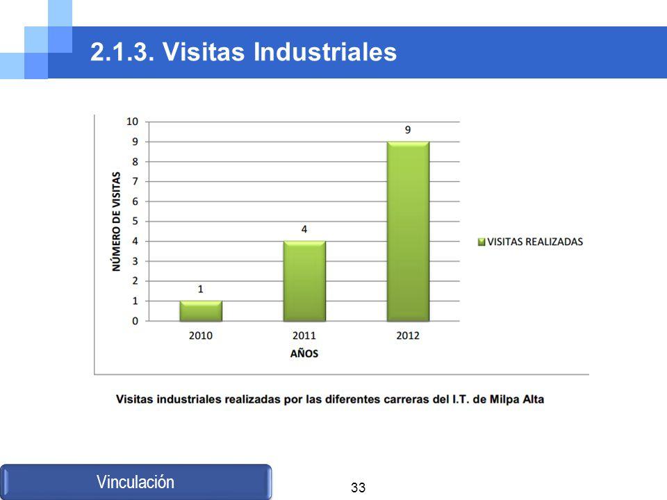 2.1.3. Visitas Industriales Vinculación